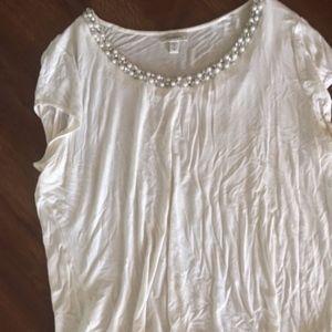 Dressbarn white shirt with rhinestones!